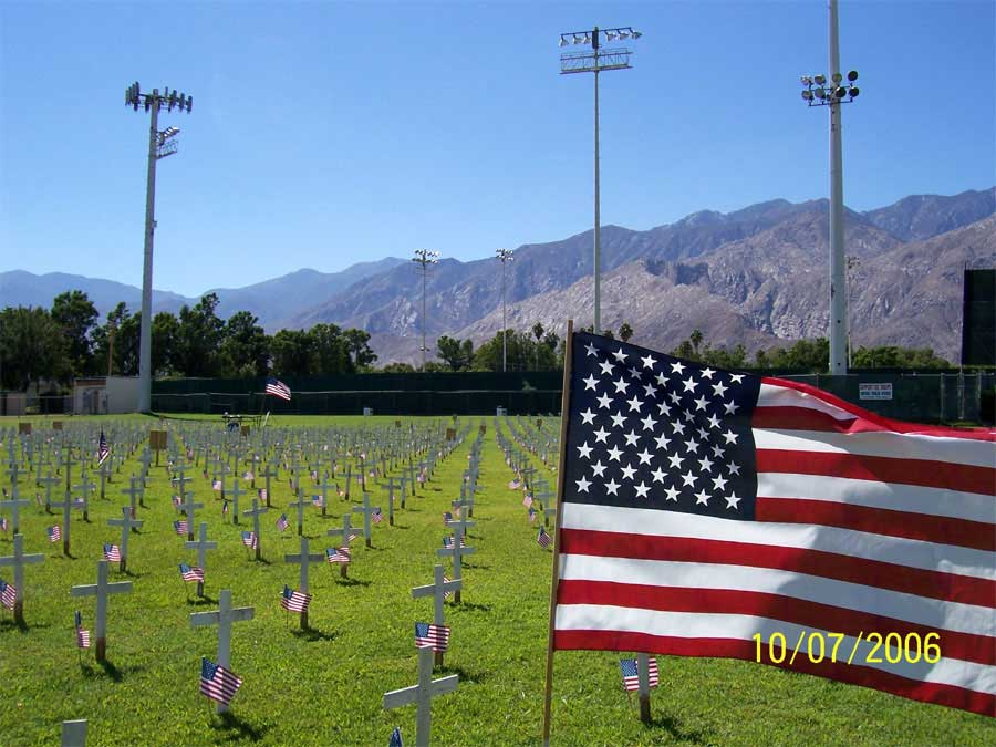 Arlington West Memorial at Palm Springs in 2006