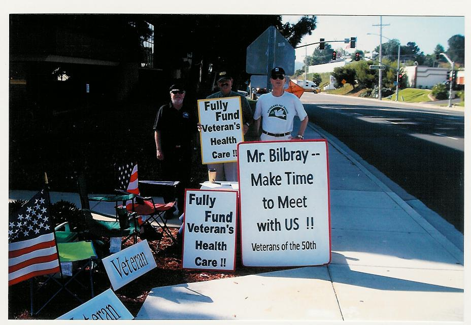 "San Diego Veterans For Peace ""Camp Bilbray"""