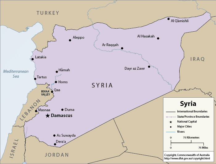 Congressional Letter Defund US Military Operations In Syria San - Map of syria