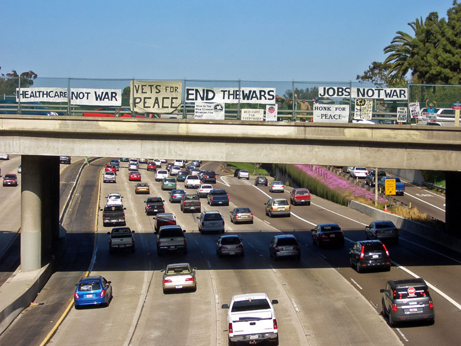 6th Avenue Overpass Bannering in San Diego